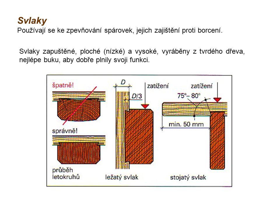 Svlaky Používají se ke zpevňování spárovek, jejich zajištění proti borcení.