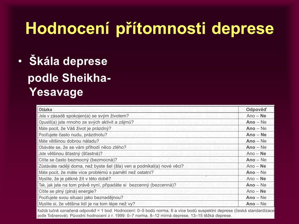 Hodnocení přítomnosti deprese