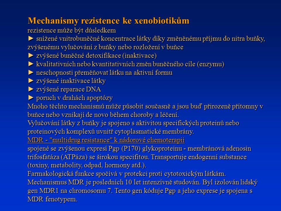 Mechanismy rezistence ke xenobiotikům