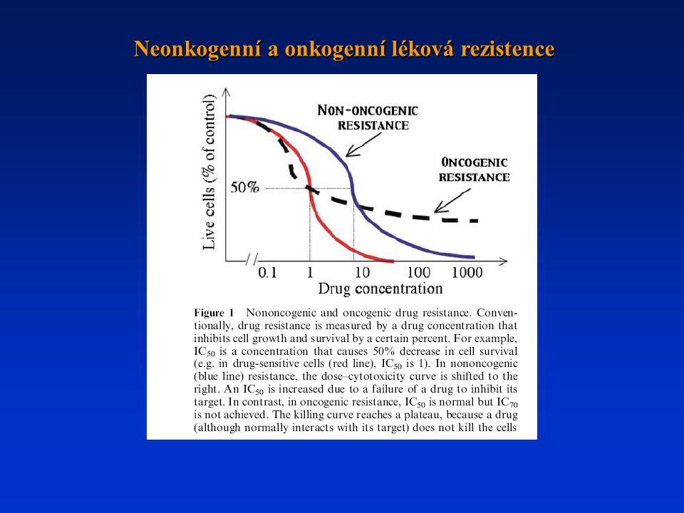 Neonkogenní a onkogenní léková rezistence