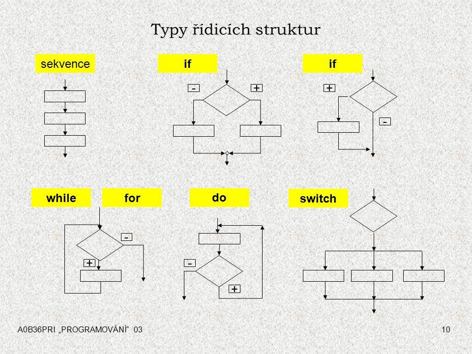 Typy řídicích struktur
