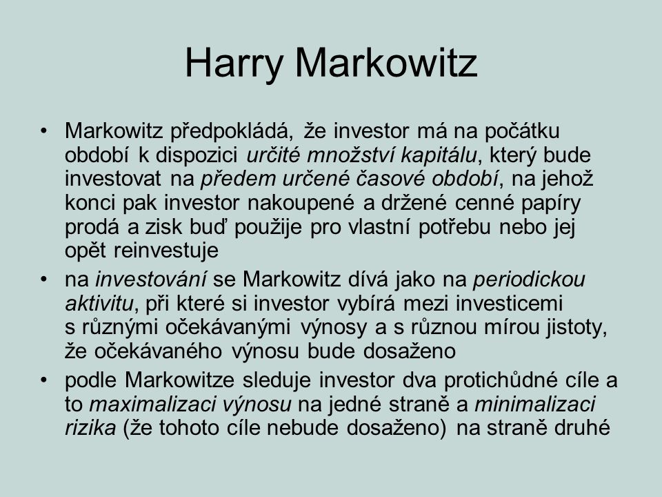 Harry Markowitz
