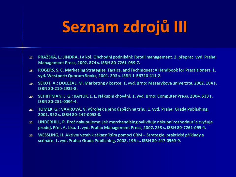 Seznam zdrojů III