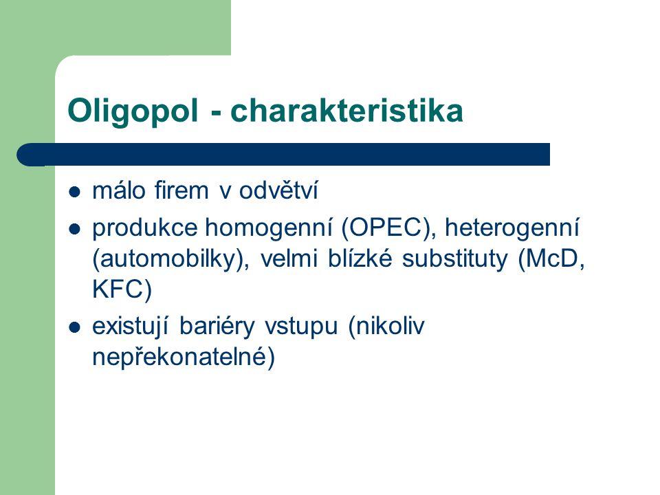 Oligopol - charakteristika