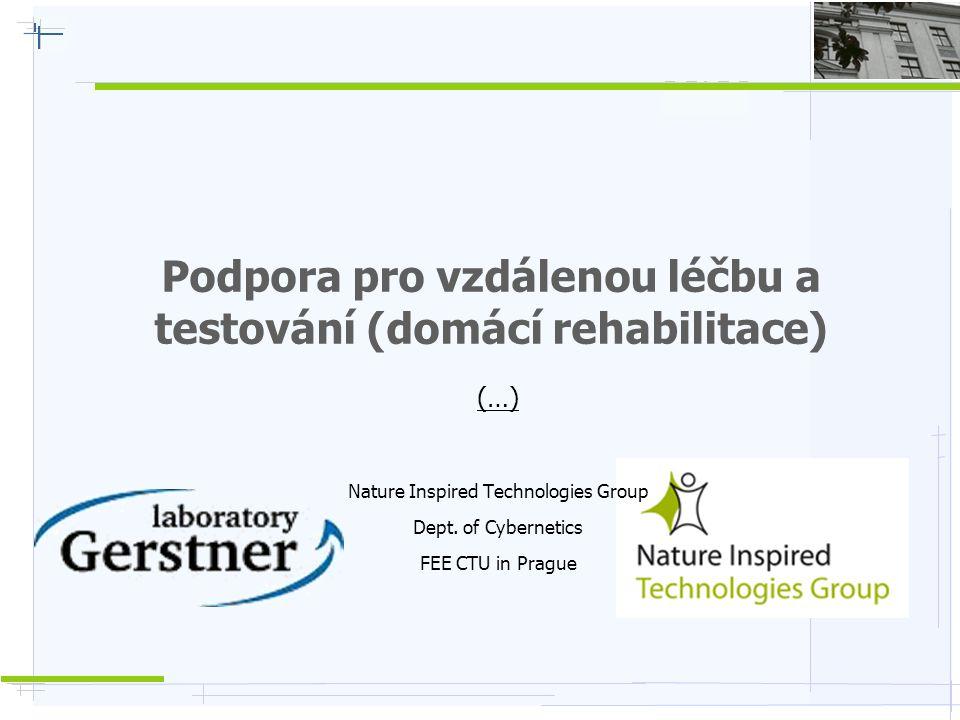 Podpora pro vzdálenou léčbu a testování (domácí rehabilitace)
