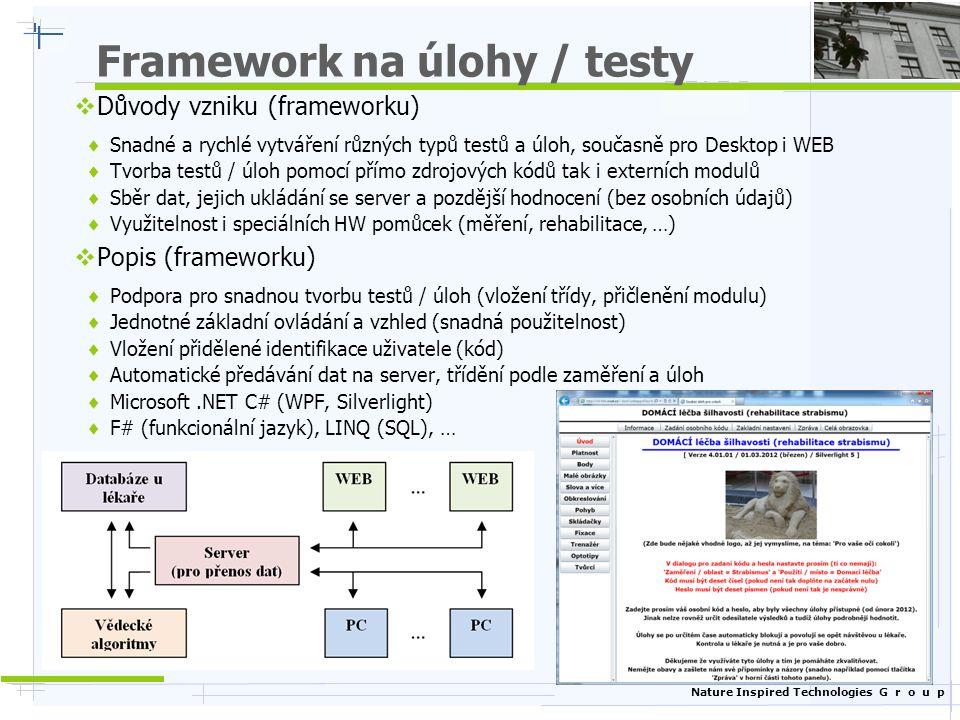 Framework na úlohy / testy