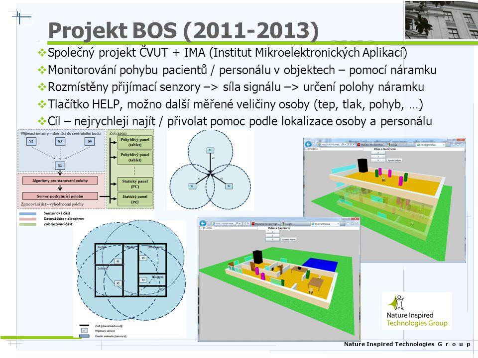 Projekt BOS (2011-2013) Společný projekt ČVUT + IMA (Institut Mikroelektronických Aplikací)