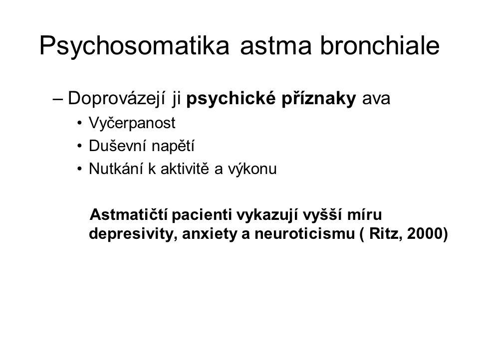 Psychosomatika astma bronchiale