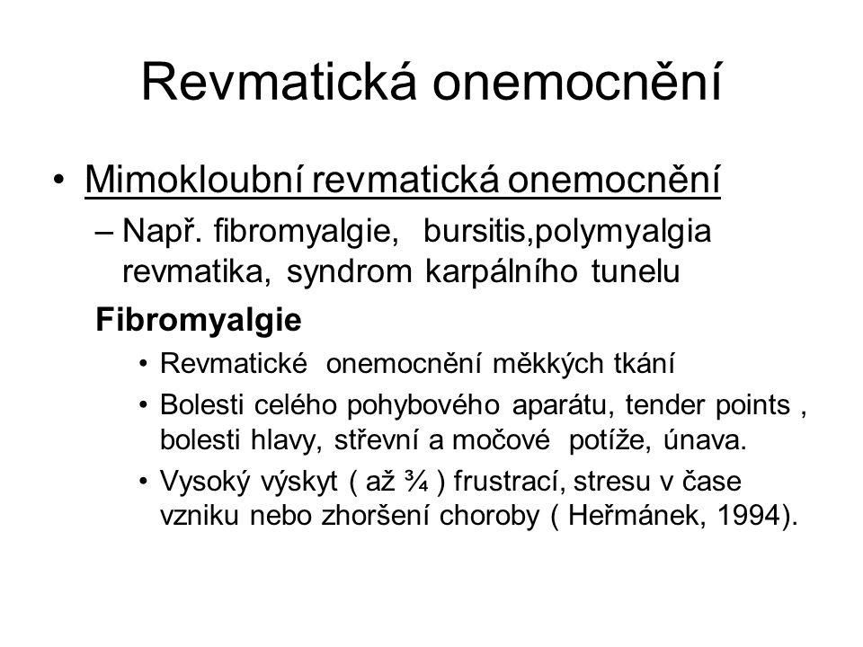 Revmatická onemocnění