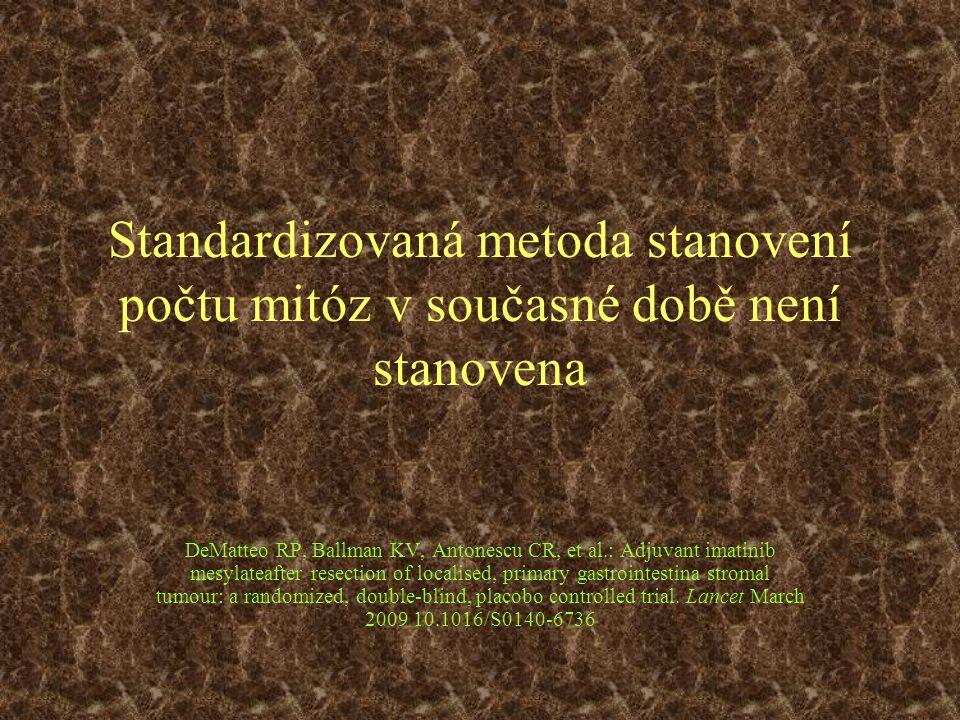 Standardizovaná metoda stanovení počtu mitóz v současné době není stanovena
