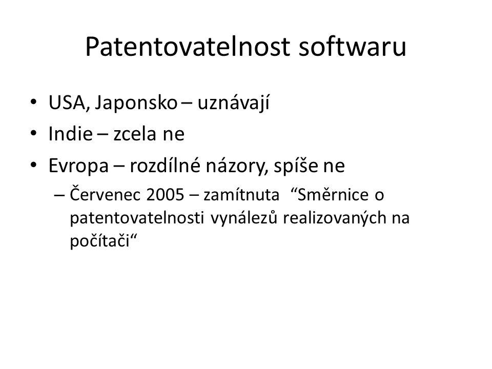Patentovatelnost softwaru