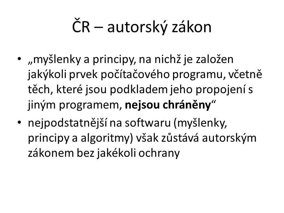 ČR – autorský zákon