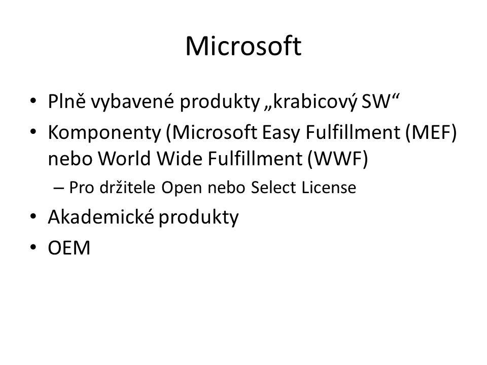 """Microsoft Plně vybavené produkty """"krabicový SW"""