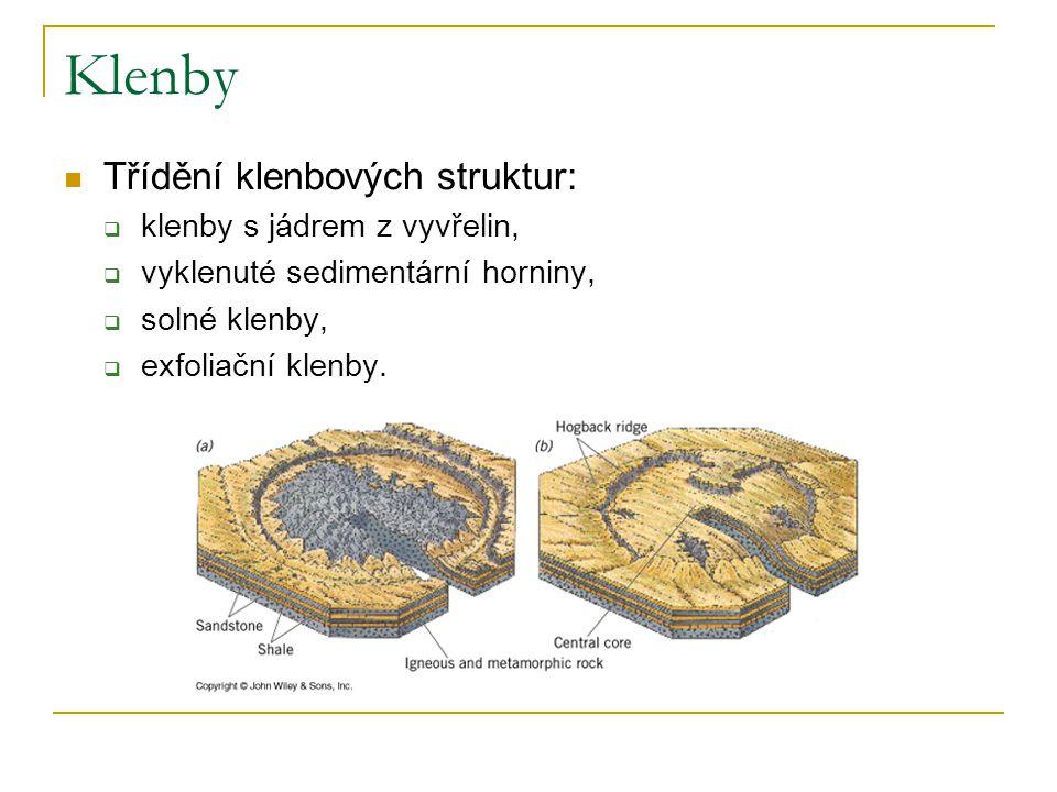 Klenby Třídění klenbových struktur: klenby s jádrem z vyvřelin,