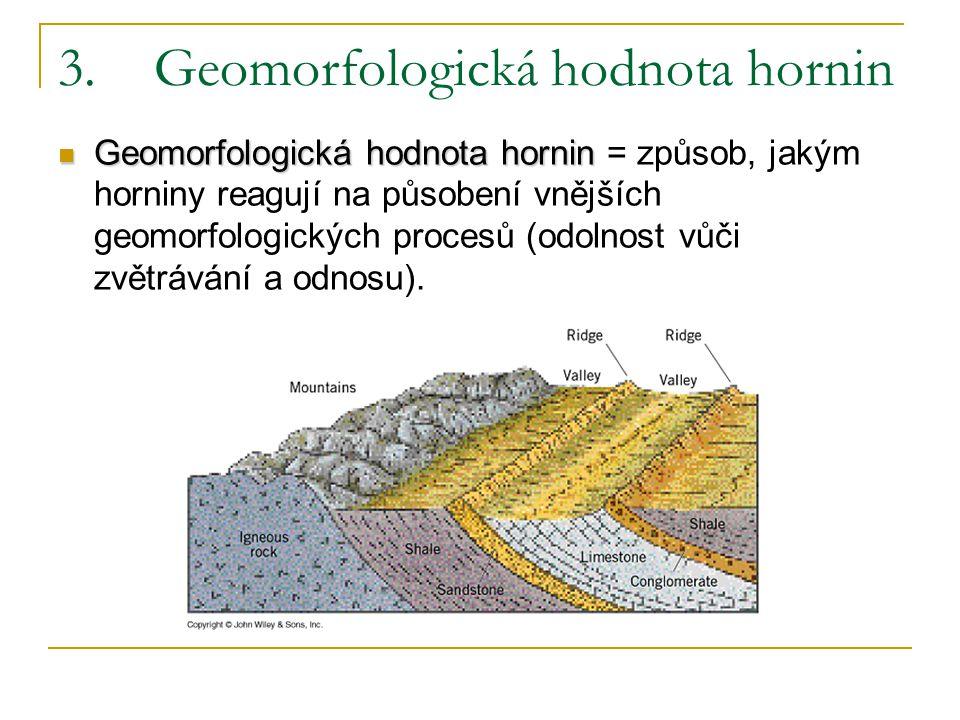 3. Geomorfologická hodnota hornin