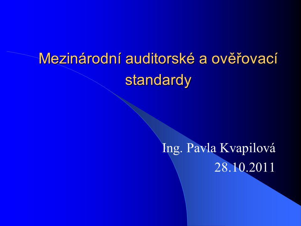 Mezinárodní auditorské a ověřovací standardy
