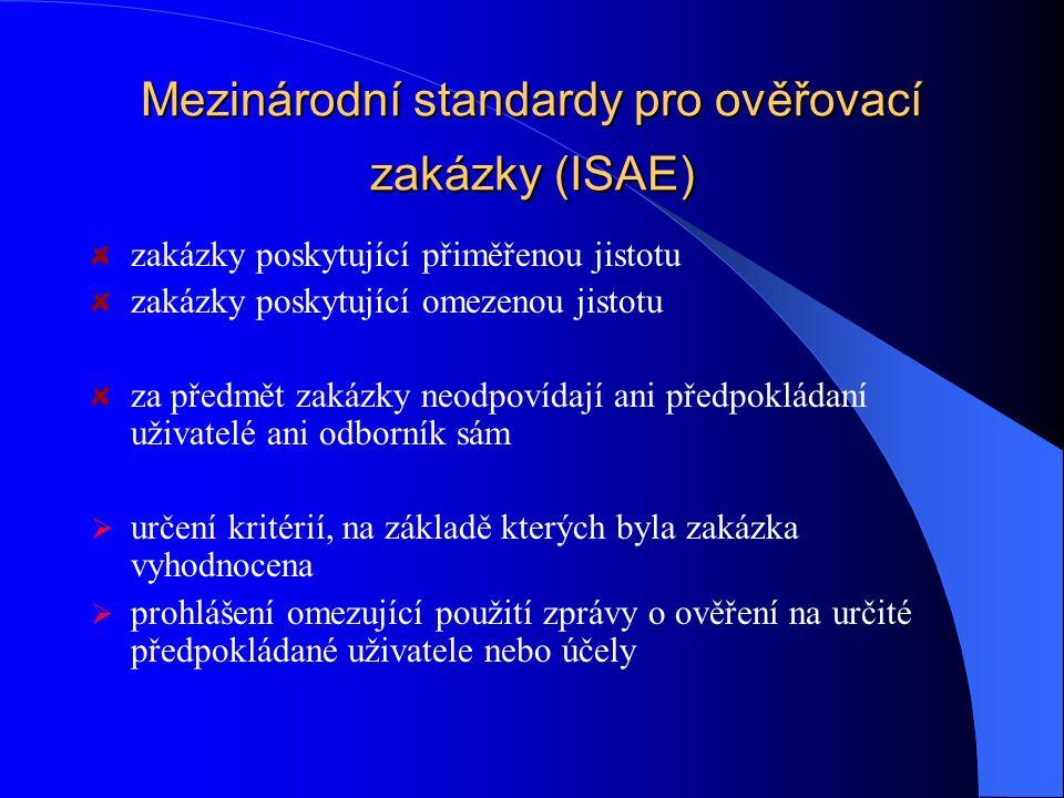 Mezinárodní standardy pro ověřovací zakázky (ISAE)