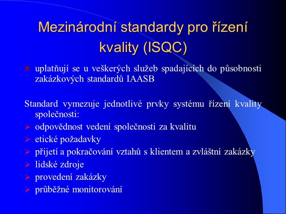 Mezinárodní standardy pro řízení kvality (ISQC)