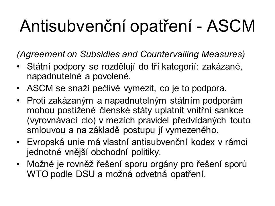 Antisubvenční opatření - ASCM