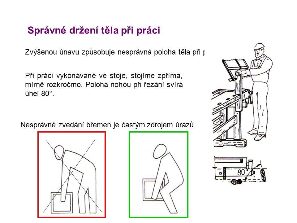 Správné držení těla při práci