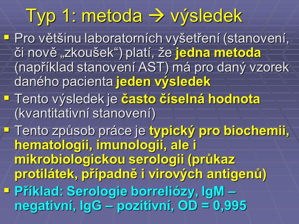 Typ 1: metoda  výsledek