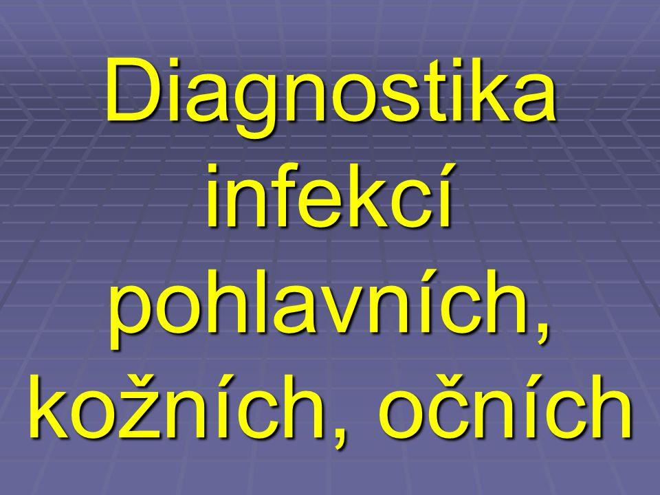 Diagnostika infekcí pohlavních, kožních, očních