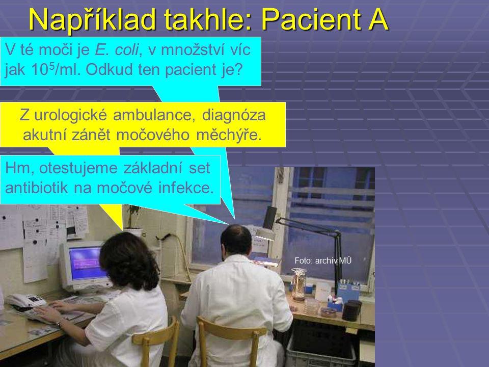 Například takhle: Pacient A