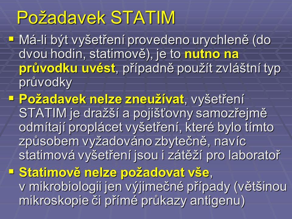 Požadavek STATIM