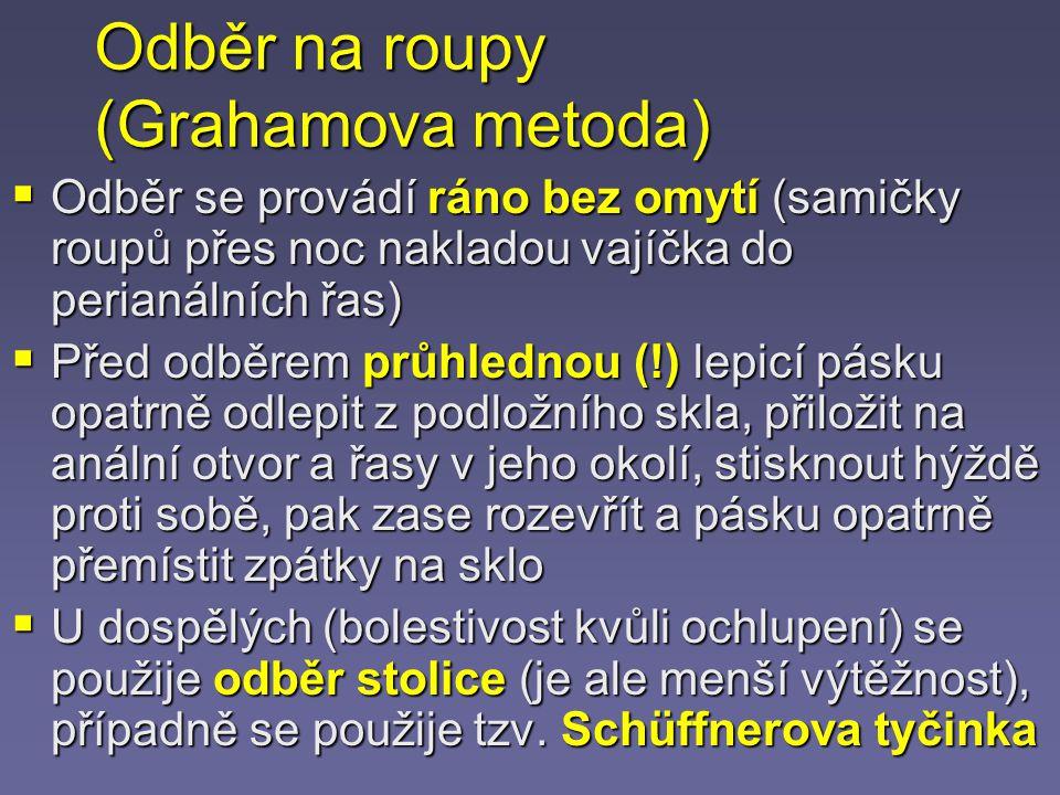 Odběr na roupy (Grahamova metoda)