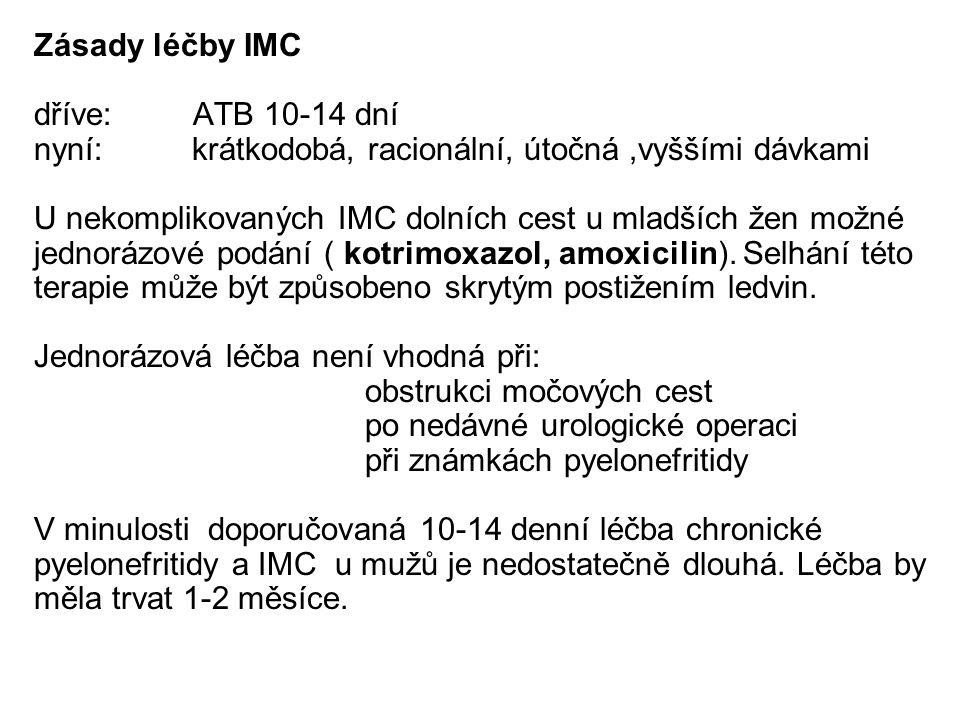 Zásady léčby IMC dříve: ATB 10-14 dní. nyní: krátkodobá, racionální, útočná ,vyššími dávkami.
