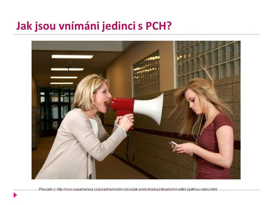 Jak jsou vnímáni jedinci s PCH