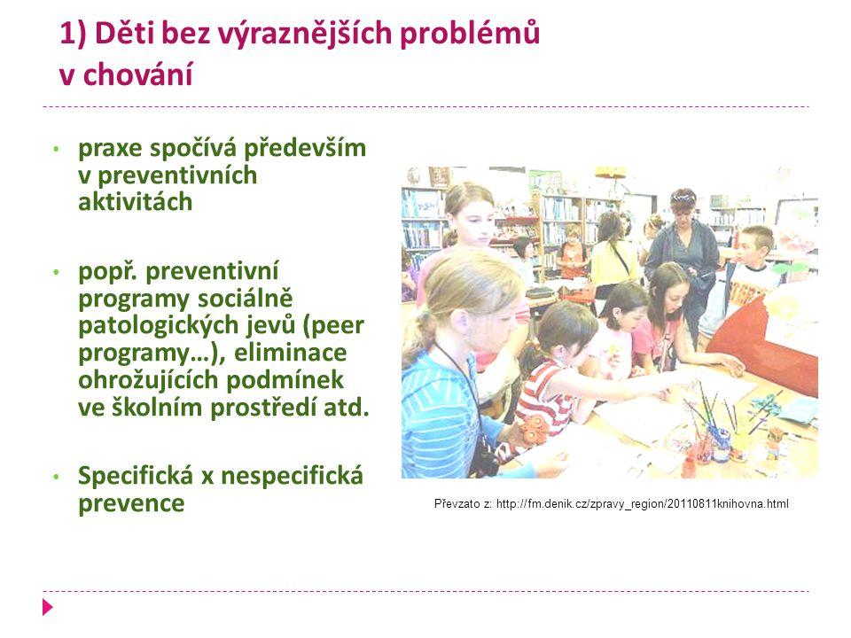 1) Děti bez výraznějších problémů v chování