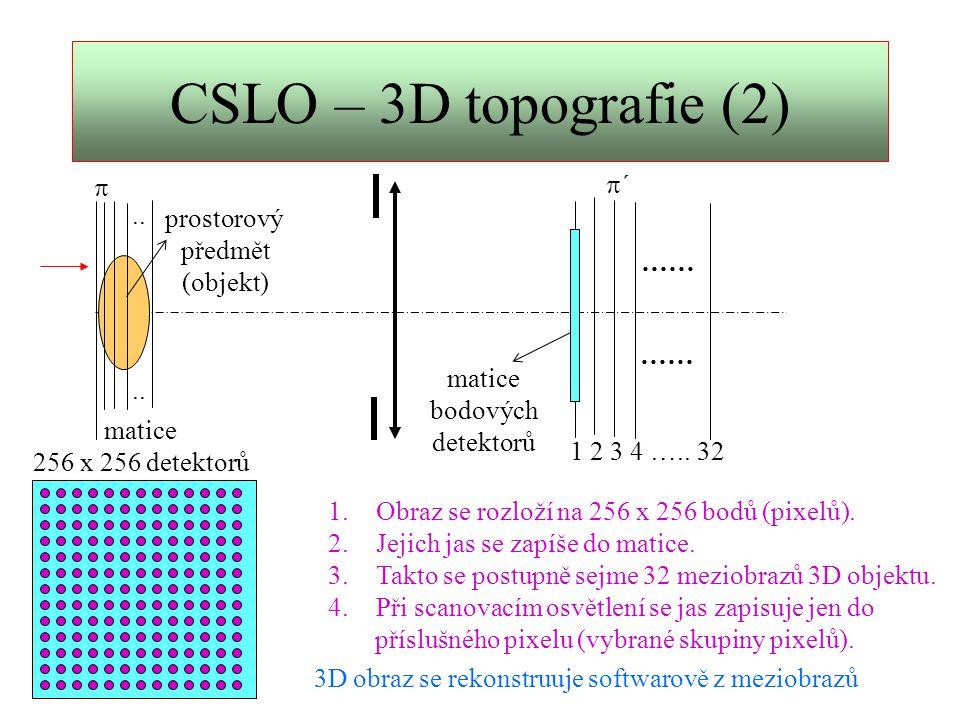 CSLO – 3D topografie (2) p´ p .. prostorový předmět (objekt) …… ……