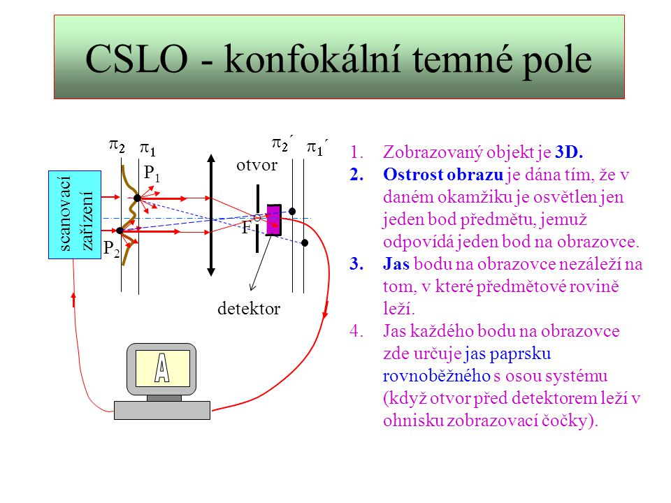 CSLO - konfokální temné pole