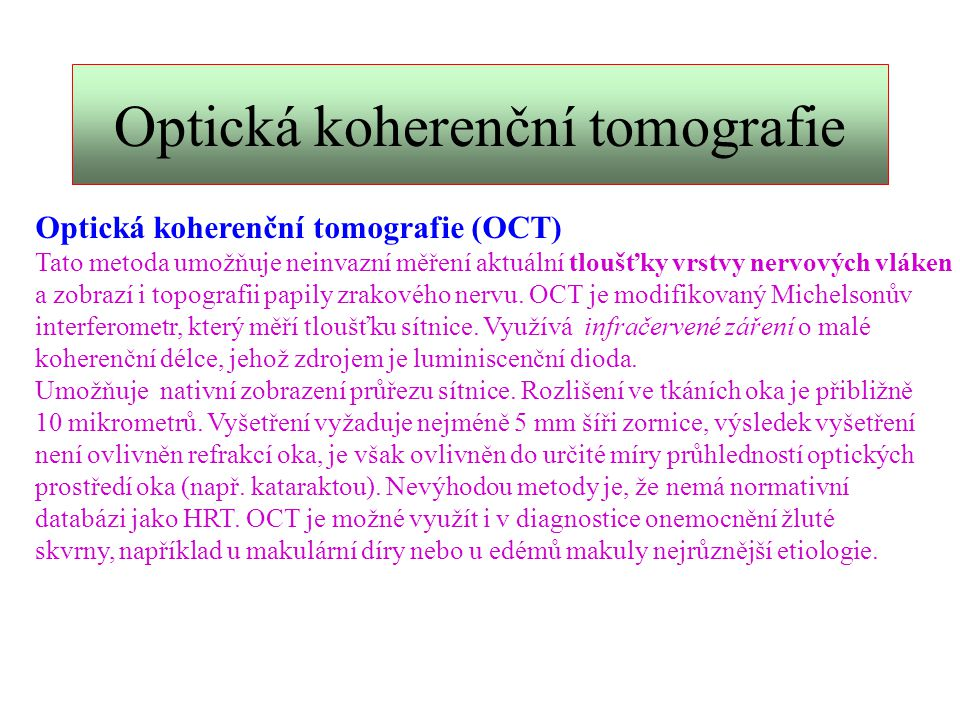 Optická koherenční tomografie
