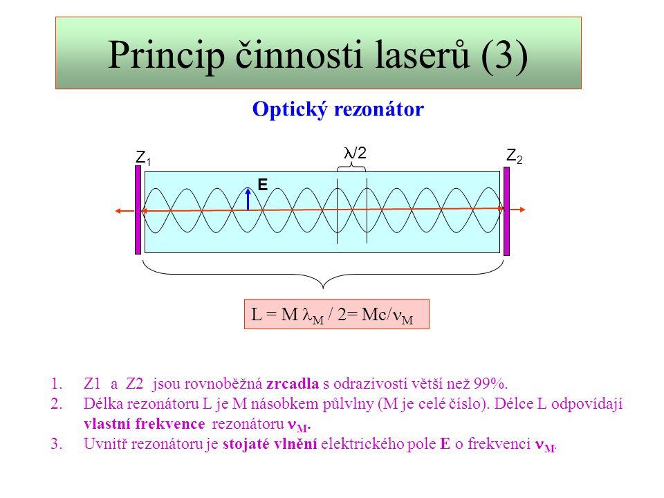 Princip činnosti laserů (3)