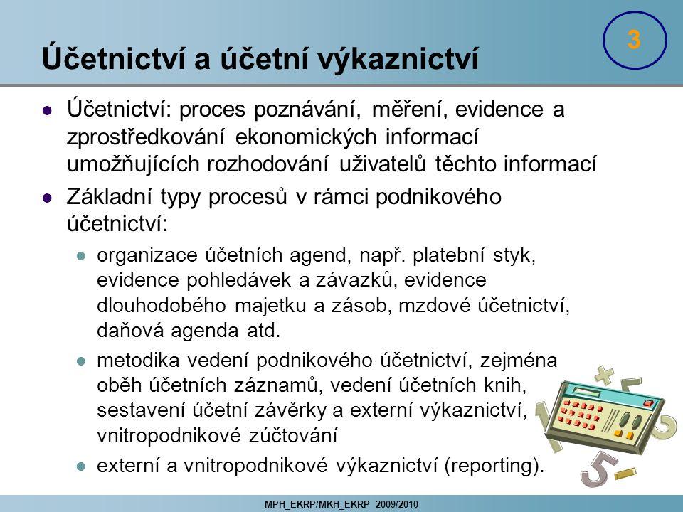 Účetnictví a účetní výkaznictví