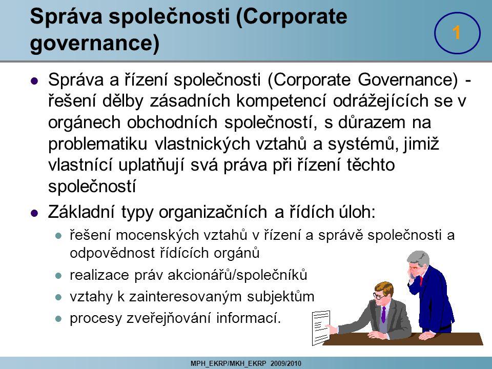 Správa společnosti (Corporate governance)
