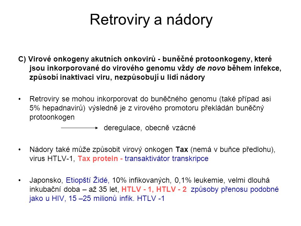 Retroviry a nádory