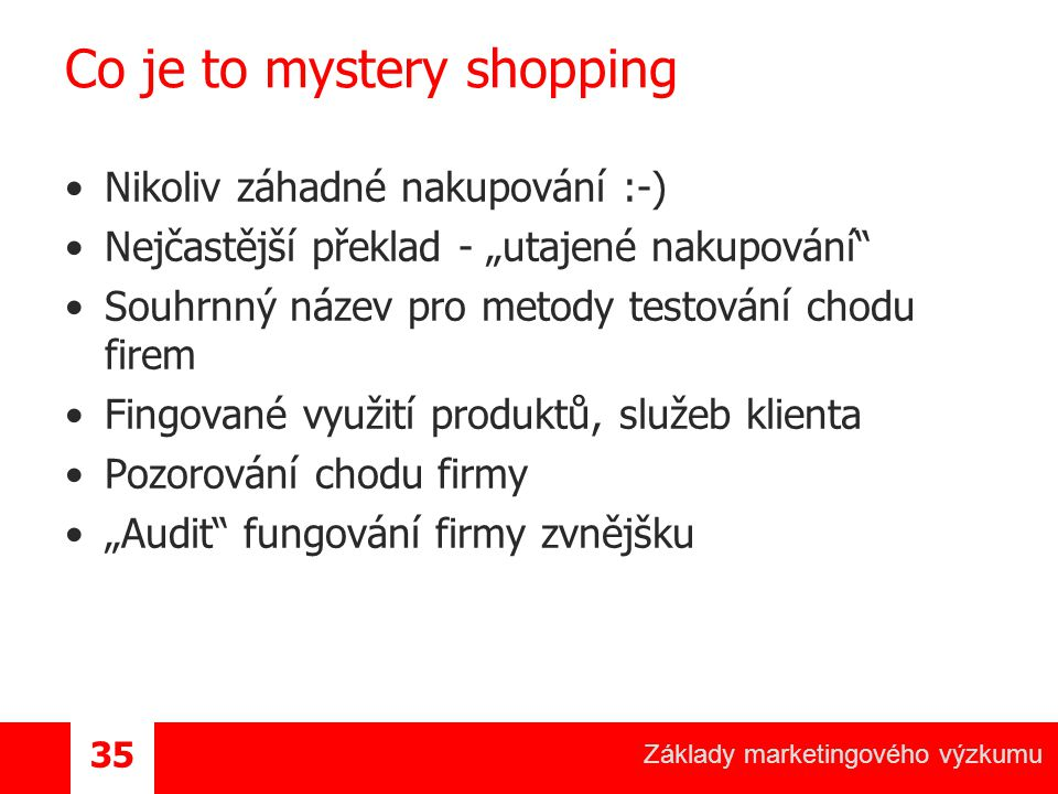 Co je to mystery shopping
