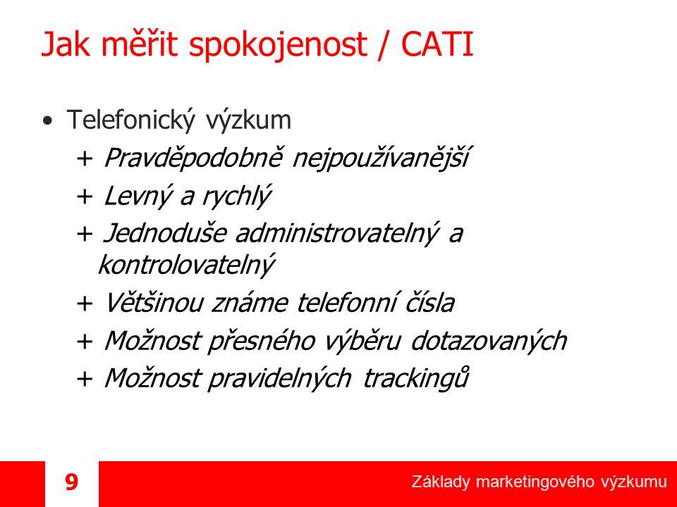 Jak měřit spokojenost / CATI