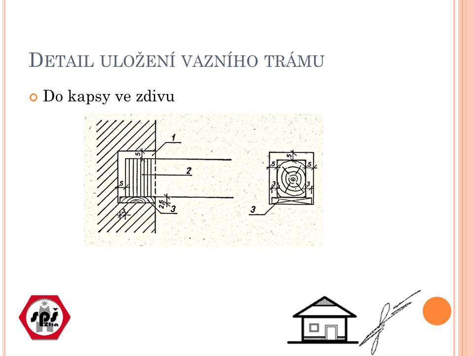 Detail uložení vazního trámu