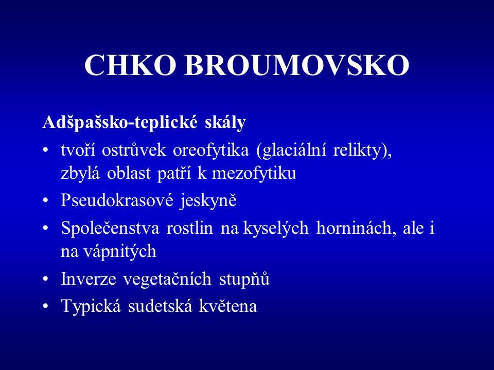 CHKO BROUMOVSKO Adšpašsko-teplické skály