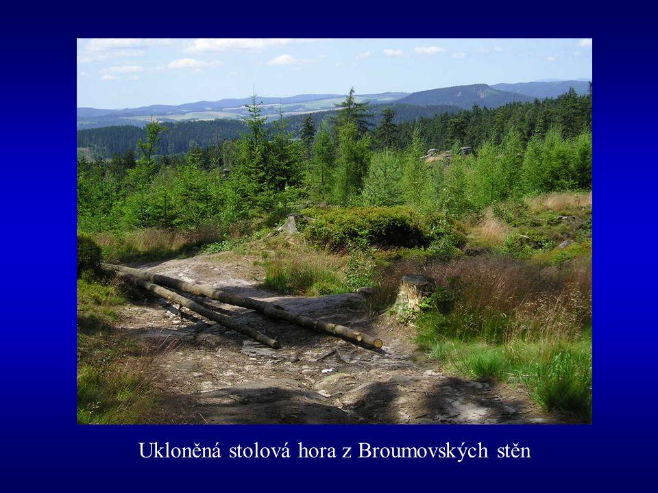 Ukloněná stolová hora z Broumovských stěn