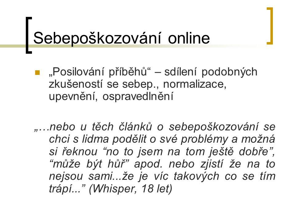 Sebepoškozování online