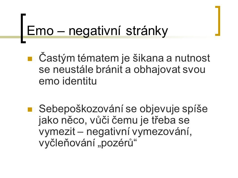 Emo – negativní stránky