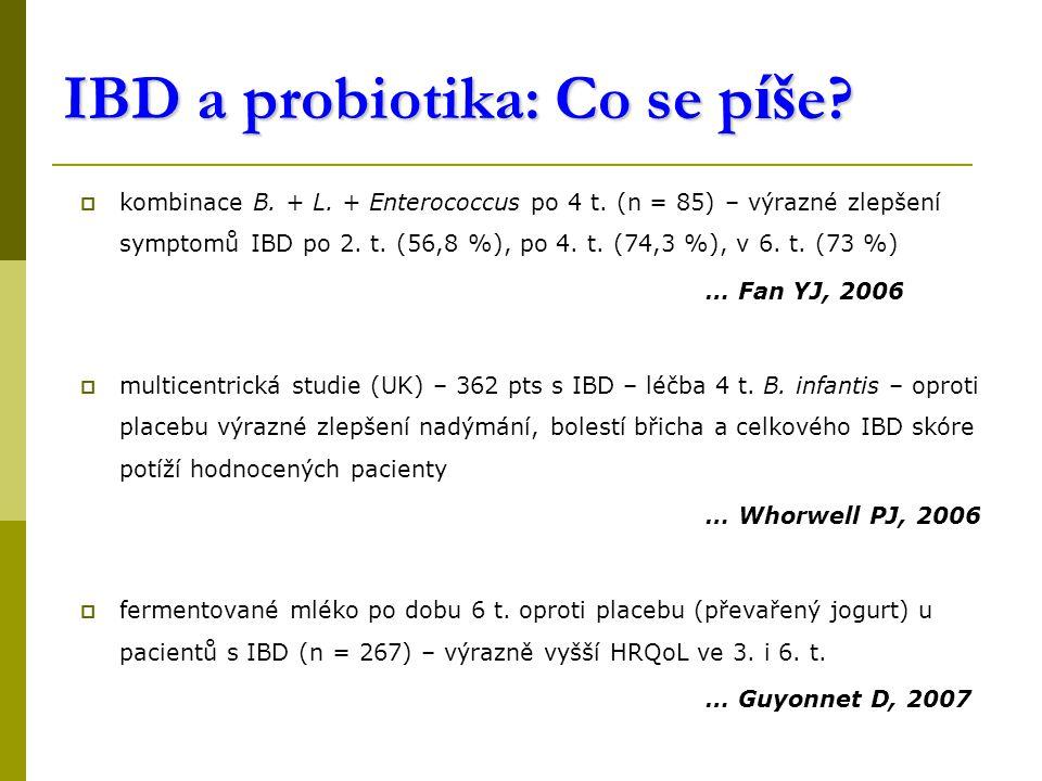 IBD a probiotika: Co se píše