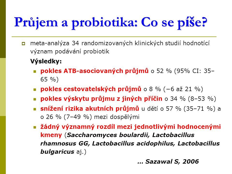 Průjem a probiotika: Co se píše