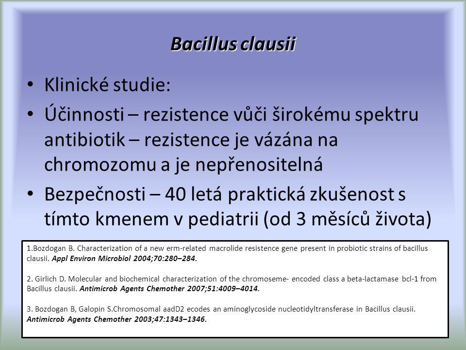 Bacillus clausii Klinické studie: