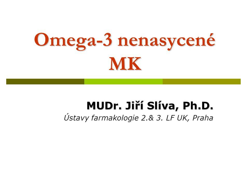 MUDr. Jiří Slíva, Ph.D. Ústavy farmakologie 2.& 3. LF UK, Praha